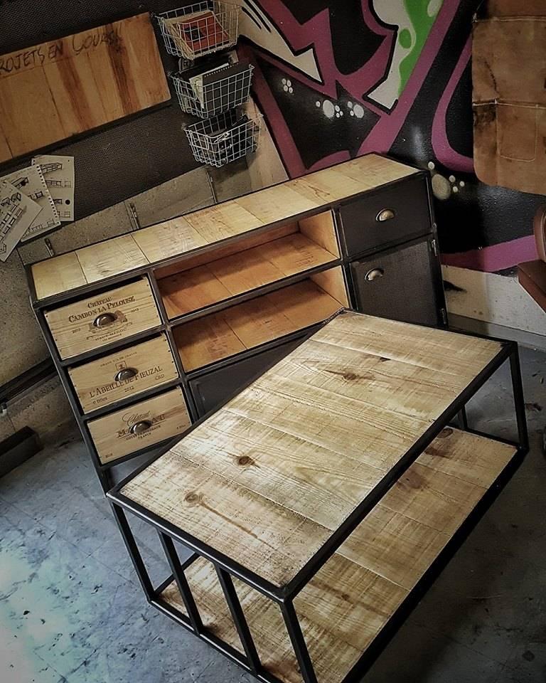 fabrication table basse en bois sur mesure fabrication de mobilier bois et m tal en gironde. Black Bedroom Furniture Sets. Home Design Ideas